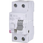 ETI Residual current circuit breaker 1P 2M 40A/30mA 6kA