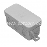Junction box IP54 89x43x37 mm gray