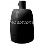 Keraamiline lambipesa E27 must pakendis