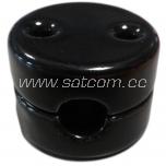 Keraamiline must isolaator 1-le ümarale tekstiilkaablile 18 paari pakendis