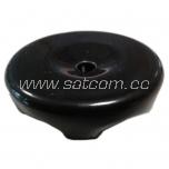 Keraamiline must isolaator 2-le ümarale tekstiilkaablile 4 tk pakendis