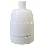 Keraamiline lambipesa E27 valge pakendis