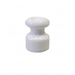 Keraamiline isolaator tekstiiljuhtmele valge