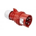 Plug 16A 5P 230V IP44