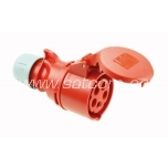 Socket for cable 16A 5P 400V IP44