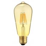 LED filament ST64 6W 600lm