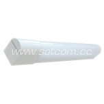Mirror lamp LED 8W, white, with switch and socket, IP44, 50cm