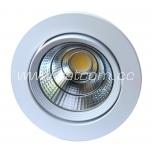 LED kohtvalgusti 10w COB 900lm, 4000K valge valgus, süvistatav, suunatav